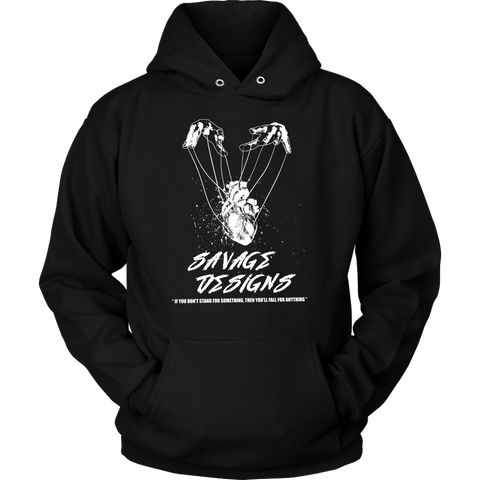 Savage Designs Heart Strings White Hoodie- 12 Colors
