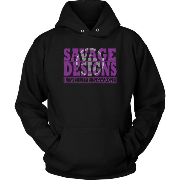 The Savage Within Purple/Grey Hoodie- 5 Colors
