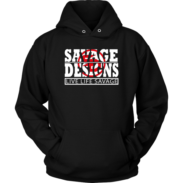 The Savage Within White/Red Hoodie- 7 Colors