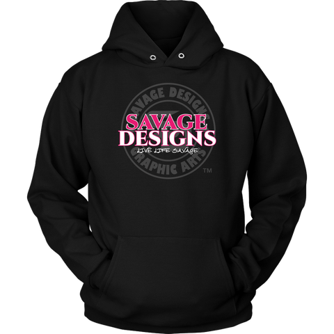 Savage Designs Faded Symbol Hot Pink/White/Grey Hoodie- 6 Colors