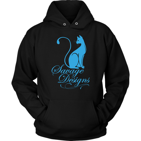Savage Designs Lady Kitten Turquoise Hoodie- 9 Colors