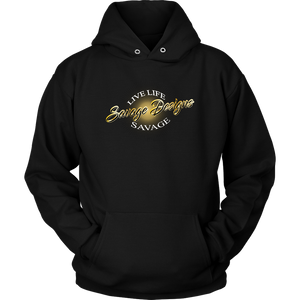Savage Designs Sunray Flare Black and Gold Hoodie- 12 Colors