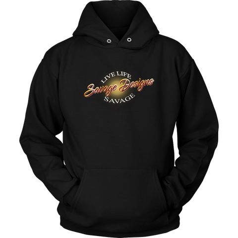 Savage Designs Sunray Flare Maroon and Gold Hoodie- 10 Colors