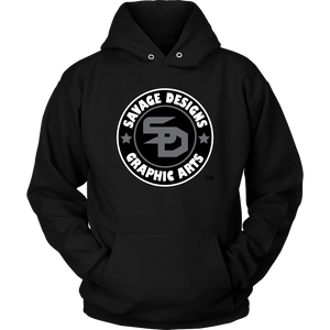 Savage Designs Symbol Patch Black/Grey/White Hoodie Color #2- 7 Colors