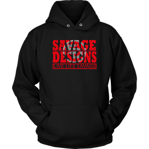 The Savage Within Red/Grey Hoodie- 5 Colors