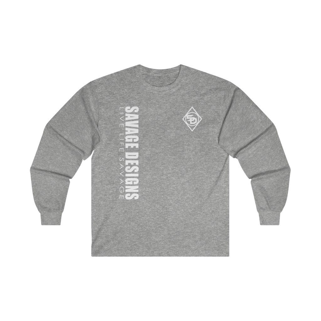 Savage Designs Triple Threat White Long Sleeve- 5 Colors