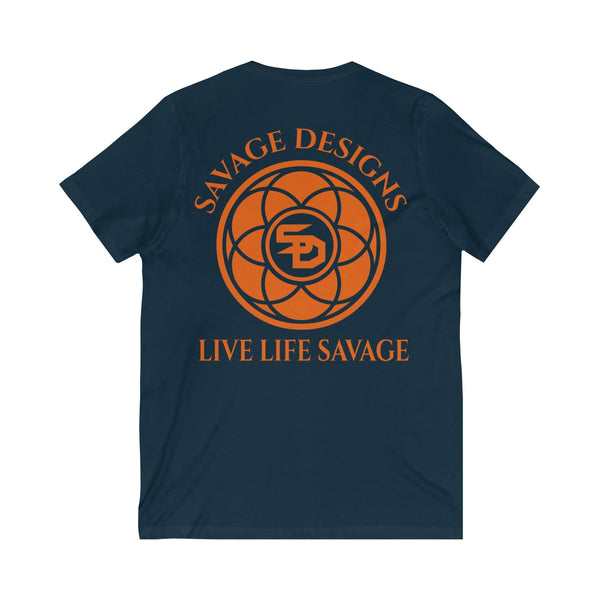 Savage Designs Egyptian Seed of Life Orange V-Neck- 8 Colors
