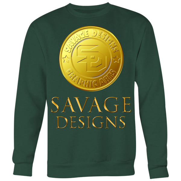 Savage Designs Gold Coin Medallion Sweatshirt- 12 Colors