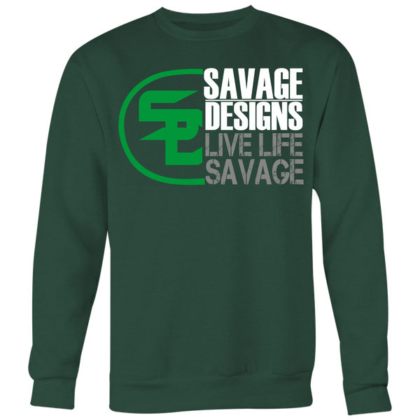Savage Designs Sliced Up Green/White/Grey Sweatshirt- 8 Colors