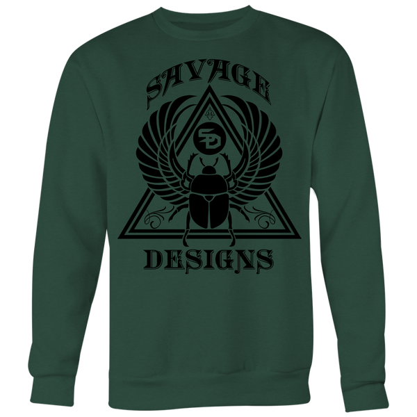 Savage Designs Eygptian Scarab Bettle Black Sweatshirt- 8 Colors