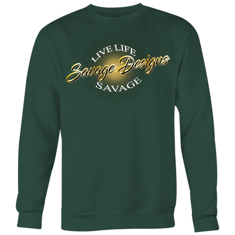 Savage Designs Sunray Flare Black and Gold Sweatshirt- 12 Colors