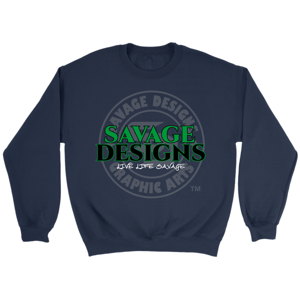 Savage Designs Faded Symbol Green/Black/White Sweatshirt- 5 Colors