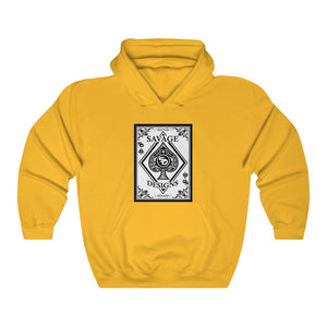 Savage Designs Ace of Spade White/Black Zip Up Hoodie- 4 Colors