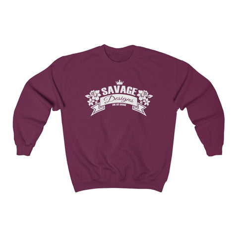 Savage Designs Royal Blossom White Sweatshirt- 4 Colors