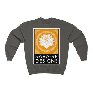 Savage Designs Lotus Flower Gold/White/Black Sweatshirt- 4 Colors