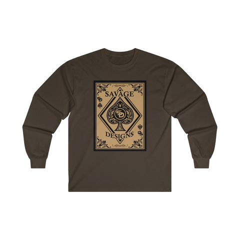 Savage Designs Ace of Spade Long Sleeve- 4 Colors