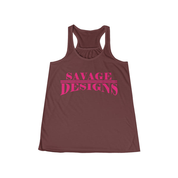 Savage Designs Classic Modern Hot Pink Tank Top- 6 Colors