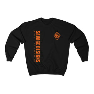 Savage Designs Triple Threat Orange Sweatshirt- 11 Colors