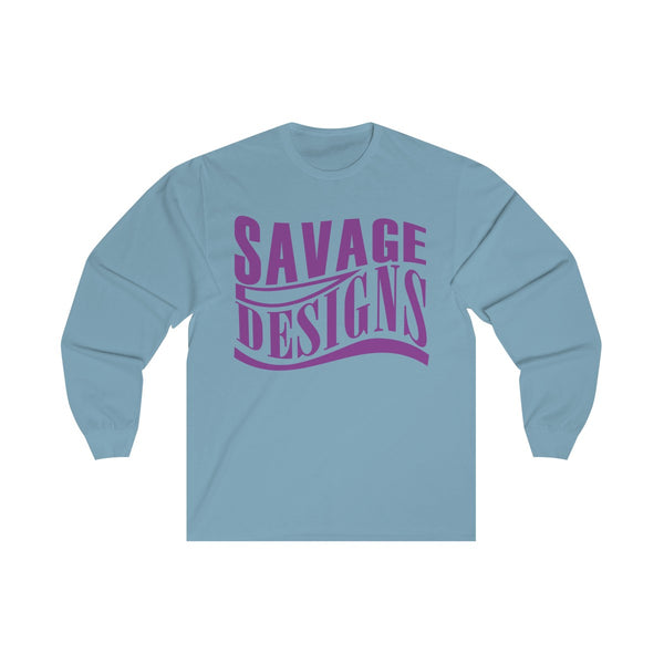 Savage Designs Warped Curve Purple Long Sleeve- 2 Colors