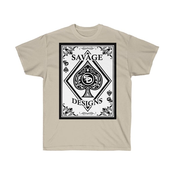Savage Designs Ace of Spade White/Black- 3 Colors