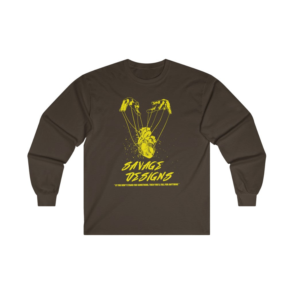 Savage Designs Heart Strings Yellow Long Sleeve- 2 Colors