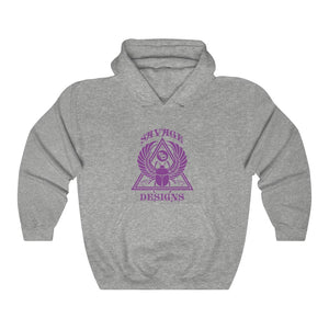 Savage Designs Eygptian Scarab Bettle Purple Hoodie- 3 Colors