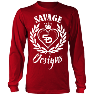 Savage Designs Heart of Hearts White Long Sleeve- 10 Colors
