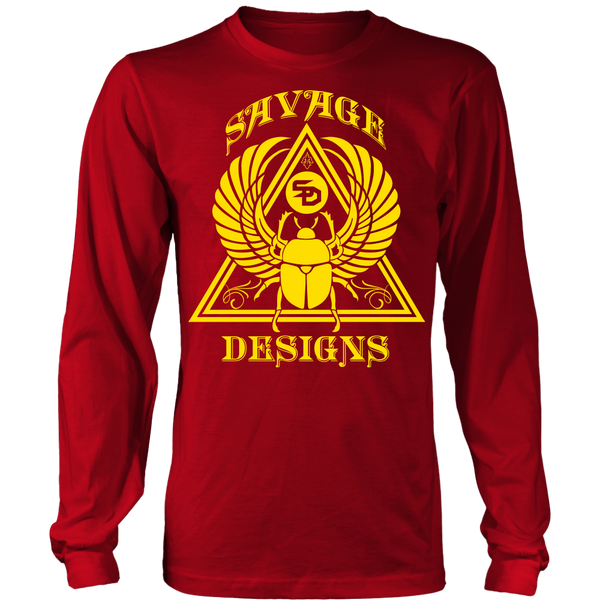 Savage Designs Eygptian Scarab Bettle Yellow Long Sleeve- 11 Colors