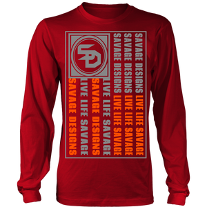 Savage Designs Flag Grey/Orange Long Sleeve- 9 Colors
