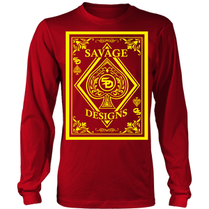 Savage Designs Ace of Spade Yellow Long Sleeve- 11 Colors