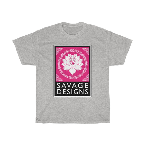 Savage Designs Lotus Flower Hot Pink/White/Black- 6 Colors