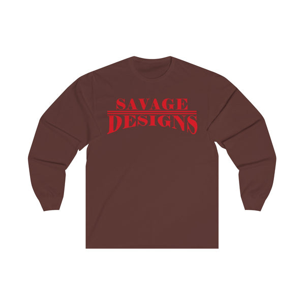 Savage Designs Classic Modern Red Long Sleeve- 3 Colors