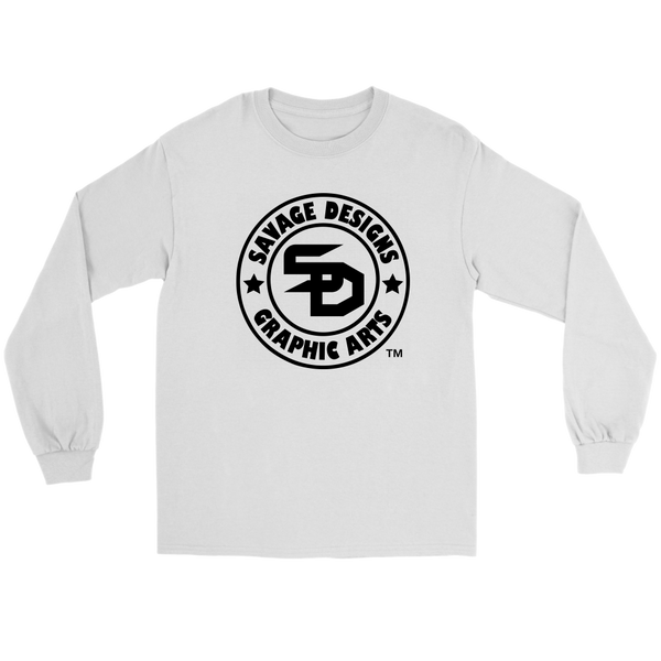Savage Designs Original Symbol/Live Life Savage Front and Back Print Long Sleeve- 10 Colors
