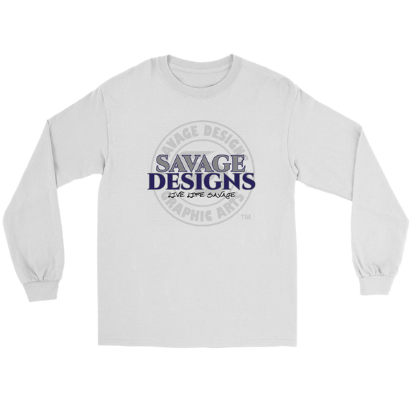 Savage Designs Faded Symbol Grey/Navy/Black Long Sleeve- 7 Colors