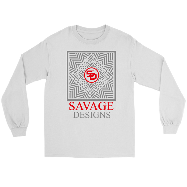 Savage Designs Optical Illusion Grey/Red Long Sleeve- 8 Colors
