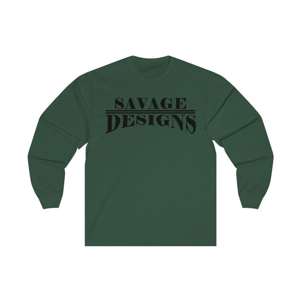 Savage Designs Classic Modern Black Long Sleeve- 5 Colors
