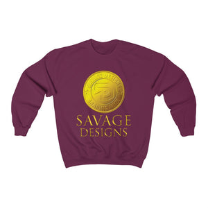 Savage Designs Gold Coin Medallion Sweatshirt- 2 Colors