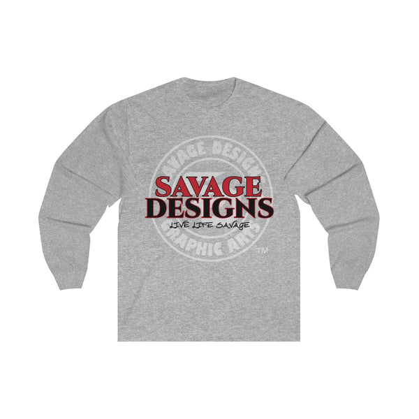 Savage Designs Faded Symbol Red/Black/White Long Sleeve- 3 Colors