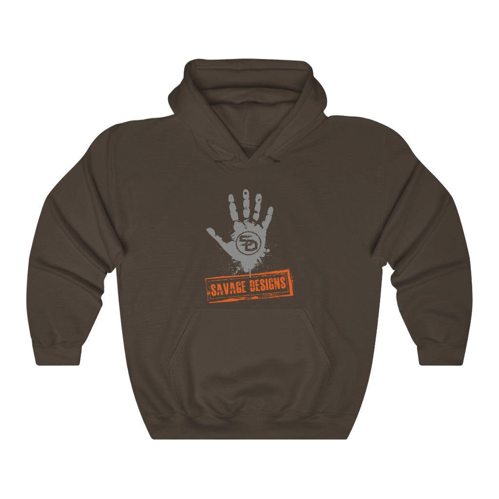 Savage Designs Optical Illusion Grey/Orange Hoodie- 4 Colors