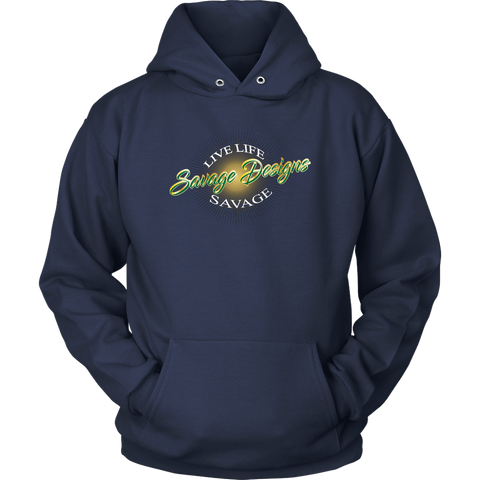 Savage Designs Sunray Flare Green and Gold Hoodie- 12 Colors