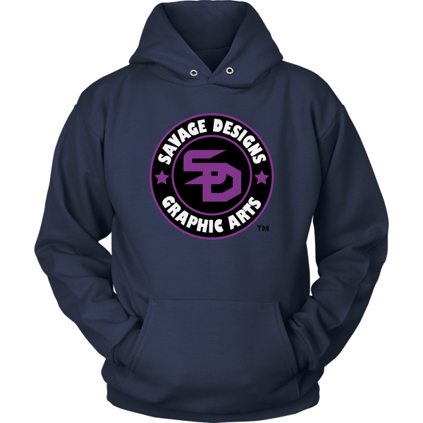 Savage Designs Symbol Patch Purple/Black/White Hoodie- 7 Colors