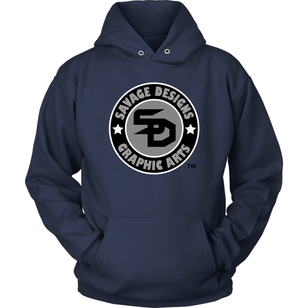Savage Designs Symbol Patch Black/Grey/White Hoodie- 9 Colors