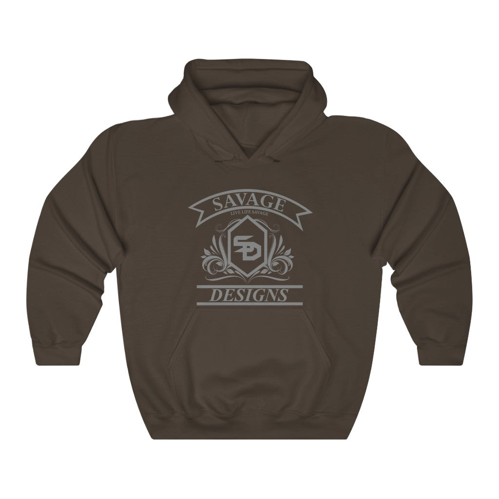 Savage Designs Diamond Floral Grey Hoodie- 4 Colors