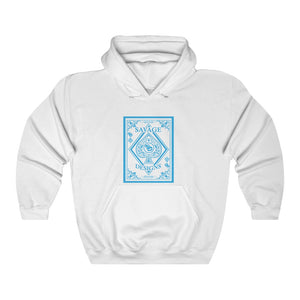 Savage Designs Ace of Spade Turquoise Hoodie- 2 Colors