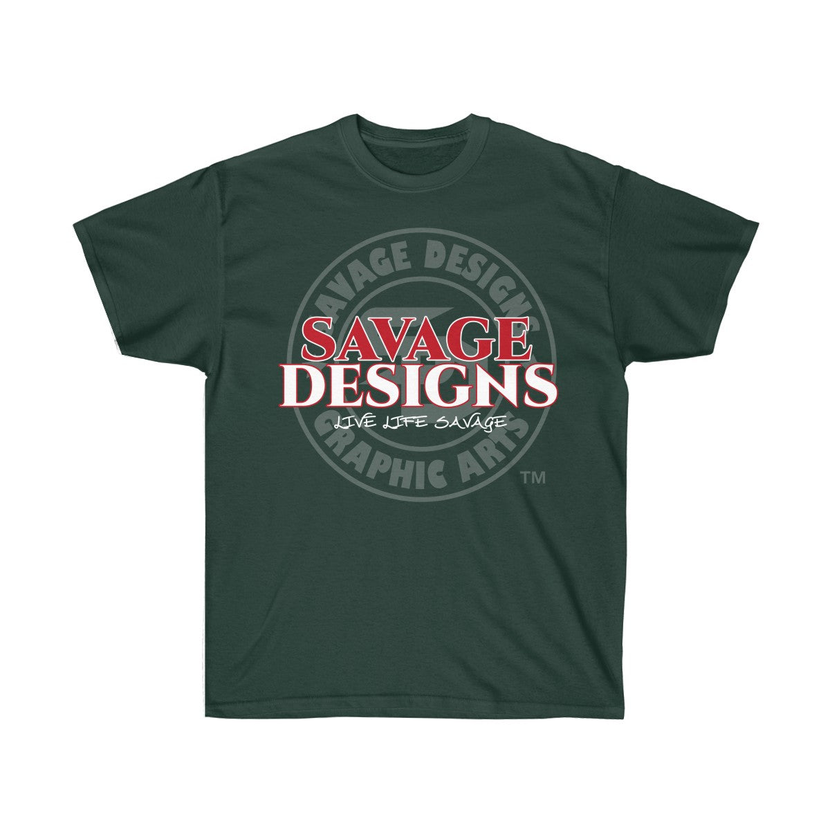 Savage Designs Faded Symbol Red/White/Grey- 2 Colors