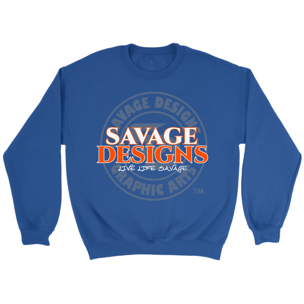 Savage Designs Faded Symbol Orange/White/Grey Sweatshirt- 7 Colors
