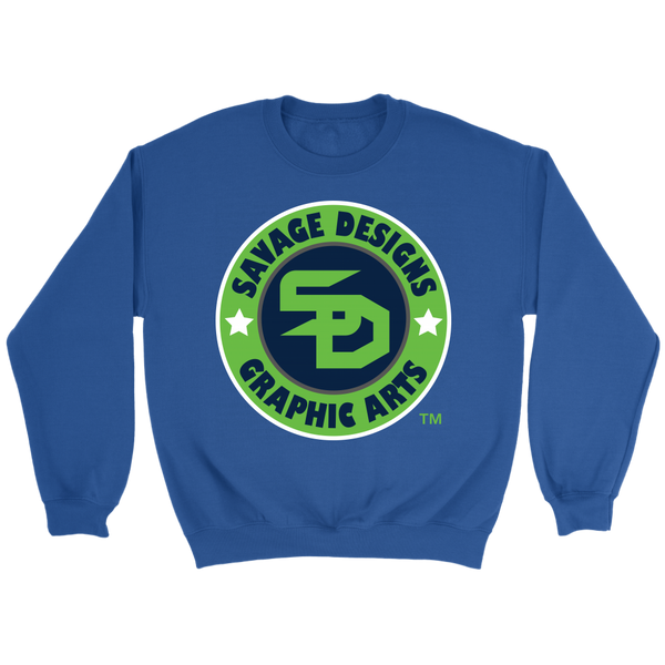 Savage Designs Symbol Patch Lime Green/Navy/White Sweatshirt- 6 Colors