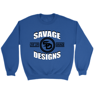 Savage Designs Dead Focus White/Black Sweatshirt- 7 Colors