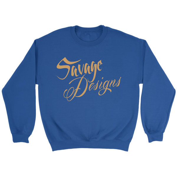 Savage Designs Cursive Script Tan Sweatshirt- 7 Colors