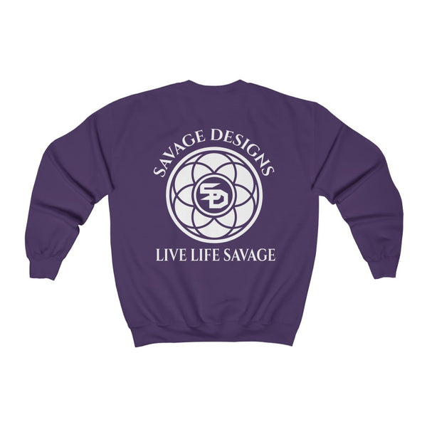 Savage Designs Egyptian Seed of Life White Sweatshirt- 12 Colors